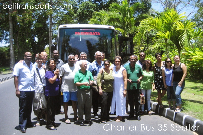 Group from Dutch Hire Bus 35 Seats Bali