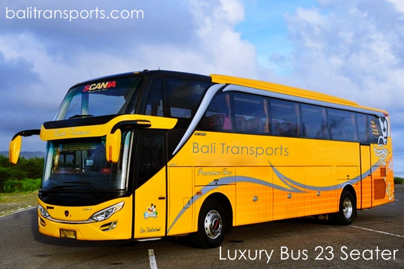 Luxury Bus 23 seater charter and rental cheap in Bali